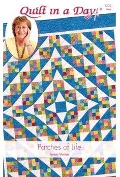 Patches for Life Quilt: Eleanor Burns Signature Quilt PatternPatches of Life is made with Nine-Patch, Triangle in a Square and Triangle Pieced Square Blocks. The Triangle in a Square blocks give this quilt the illusion of curves. Love this scrappy quilt - Lap Quilts, Strip Quilts, Scrappy Quilts, Quilt Blocks, Twister Quilts, Quilt Baby, Quilting Tutorials, Quilting Designs, Quilting Ideas