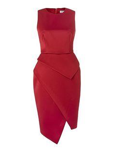 Angled bottom dress with slit