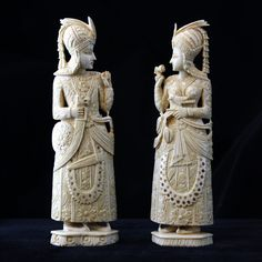 Antique indian carved ivory
