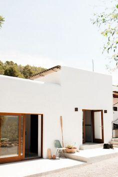 White Spanish style home.