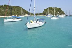 Visit Paxos, Ithaki, Kefalonia, Zakynthos, Lefkada and Kythira and enjoy their fantastic turquoise crystal clear waters. Sailing Trips, Crystal Clear Water, Luxury Yachts, Greek Islands, Boat, Turquoise, In This Moment, Beautiful, Greek Isles
