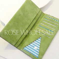 Simple Women's Clutch Wallet With Solid Color and Letter Design