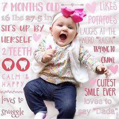 This 7 Month Update Baby Photo App Books Development Milestones