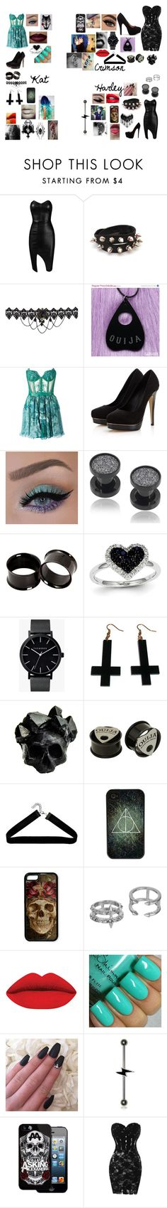 """Fancy Dinner"" by kat-cain on Polyvore featuring Posh Girl, Christian Louboutin, Kristian Aadnevik, Lipsy, Kevin Jewelers, The Horse, Chicnova Fashion, Macabre Gadgets, Boohoo and CellPowerCases"