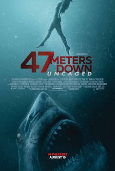 New trailer and poster arrive for shark horror film, Meters Down: Uncaged.' John Corbett, Nia Long, and Khylin Rambo star. John Corbett, Movies 2019, Hd Movies, Movies To Watch, Movies Online, Netflix Movies, Marvel Movies, Prime Movies, Horror Movie Posters