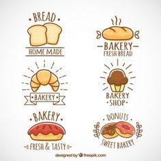 Vektörel Pastane Logo Tasarımları