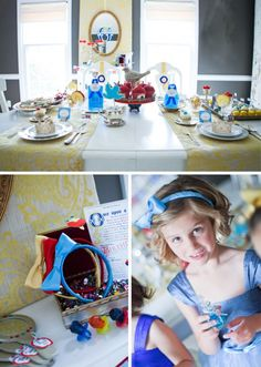 snow white party. craft mirrors. satin head bands. ring pops.
