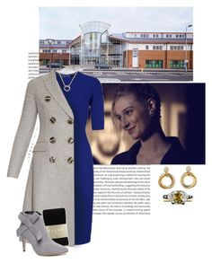 """""""Victoria, as patron of the Royal College of Midwives, visits Neath Port Talbot Birthing Centre in Port Talbot, Wales"""" by immortal-longings ❤ liked on Polyvore featuring Jaeger, Burberry, Tiffany & Co., Falke, WithChic and Cartier"""