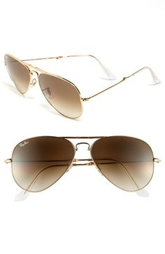 f053f8c4cc Ray-Ban 58mm Folding Aviator Sunglasses 3479 Óculos De Sol Aviador Dourado