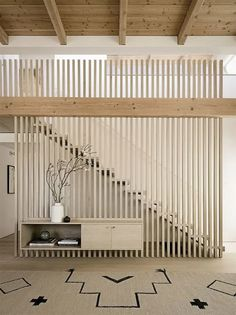 14 Ways To Infuse Your Space With Japandi Vibes | Posh Pennies Interior Staircase, Home Stairs Design, Railing Design, Home Interior Design, Interior Architecture, Modern Staircase, Decorating Staircase, Staircase Ideas, Exterior Design