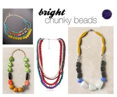for spring: bright chunky beaded necklaces!