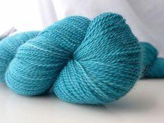 Madelinetosh Tosh Sock - Kelp - Blue Green Turquoise Sea Fingering Weight Hand Dyed Luxury Superwash Merino Yarn-----> I want this :)