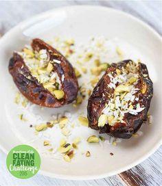Coconut- and Pistachio-Stuffed Dates