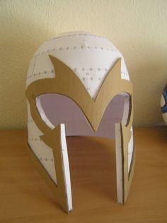 PEPAKURA - X-men first class magneto helmet by distressfasirt on DeviantArt Cardboard Costume, Cardboard Mask, Cardboard Crafts, Paper Crafts, Magneto Costume, Magneto Helmet, Cosplay Armor, Cosplay Diy, Roman Soldier Helmet