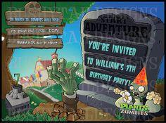 invitaciones plantas vs zombies - Buscar con Google