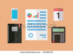 Paperwork and Seo analytics flat vectors, Business adviser financial audit and Financial research report.