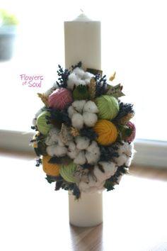 Flowers of Soul Diy Flowers, Wedding Flowers, Flower Diy, Christening, Christmas Wreaths, Candles, Holiday Decor, Handmade, Gifts