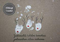 Suvikukkasia: Joulukuu! Personalised Christmas Cards, Homemade Christmas Cards, Christmas Wishes, Xmas Cards, Handmade Christmas, Christmas Fair Ideas, Christmas Inspiration, Christmas Crafts, Christmas Decorations
