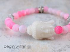"""""""This bracelet is very delicate and beautiful. I am very happy with it!"""" Reviewed on #etsy   Buddha bracelet by Begin Within   #spiritual #yoga #jewelry"""