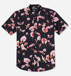 Buy the Gitman Vintage Flamingo Flower Short Sleeve Shirt in Black from leading mens fashion retailer END. - only Fast shipping on all latest Gitman Vintage products. Floral Print Shirt, Floral Shirts, Colorful Shirts, Flower Shorts, Summer Shirts, Look Cool, Types Of Fashion Styles, Swagg, Cool Shirts
