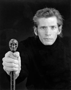 Robert Mapplethorpe (1946-1989), self-portrait 1988. American photographer, known for his large-scale, highly stylized black and white photography.