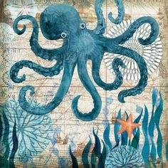 Monterey Bay Octopus' by Geoff Allen framed canvas art is constructed from the highest quality wood stretcher bars and canvas, printed with first-class giclee printing machines and is manufactured in