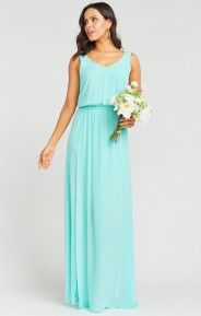 Kendall Maxi Dress ~ Sea Glass Crisp