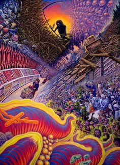 Trippy Psychedelic Art   death art trippy lsd shrooms acid psychedelic earth details BOOM dmt ...
