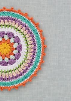 Colourful crochet mandala | step25 | Mollie Makes