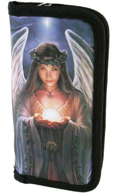 YULE ANGEL WALLET BY ANNE STOKES Wicca Pagan Witch Goth ANGEL WALLET PURSE