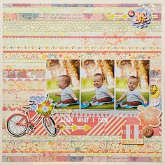 """Soleil Collection on Blitsy for $12.80 (reg $16.00). Pack includes 12 (12"""" x 12"""") double-sided papers, one sheet coordinating alphabet stickers and one sheet coordinating element stickers. Acid & lignin free. Look 