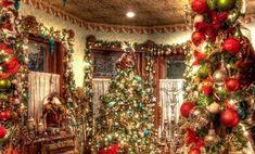 Christmas Decor Ideas - Happy Christmas - Noel 2020 ideas-Happy New Year-Christmas Christmas Scenes, Noel Christmas, Country Christmas, Winter Christmas, Christmas Ornaments, Christmas Mantles, Christmas Poster, Woodland Christmas, Christmas Villages