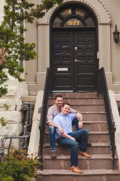 Imagining their future home as husband and husband. Justin and Nathan's city engagement photography session in Washington, D.C. (See more and read their love story on Equally Wed, the world's leading same-sex wedding magazine and website for gay, lesbian, transgender, queer and bisexual couples. equallywed.com) Photo by Casey Hendrickson