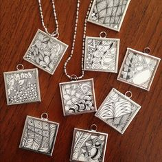 zentangle | Tumblr {neat idea to emulate (not copy) for the fundraising!} original off inquisitive-sue Blog.. nice! THIS IS EASIER THAN YOU THINK.CK IT OUT