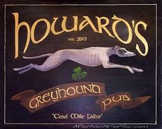 Image detail for -Greyhound Pub Sign Oil Portraits A Portrait for You - Portraits from ...