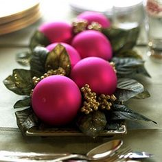 Love the colors in this centerpiece.