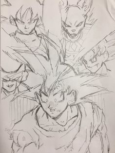 """Young Jijii's newest works for his hit fan manga """"Dragon Ball After"""". #SonGokuKakarot"""