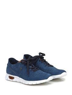 PACIOTTI 4US - Sneakers - Uomo - Sneaker in camoscio con suola in gomma light, tacco 35, platform 20 con battuta 15. Interno sfoderato. - DENIM - € 238.00