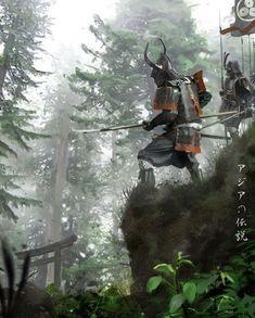 Samurai by David Benzal Ronin Samurai, Samurai Warrior, Japanese Culture, Japanese Art, Bushido, Arte Ninja, Samurai Artwork, Ghost Of Tsushima, Japanese Warrior