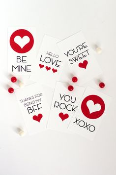 Free Printable Valentines for Kids, Tweens and Teens :: The TomKat Studio for DIY Network