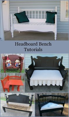 "Edited July 2011 I have a new way to attach the sides to the headboard. You can see my latest Bench Tutorials in my post Twin Headboard Bench ""Welcome"" and Twin Headboard Bench Tutorial Some people have written me asking about how to make these headboard benches. When we (Cathy and me) made these benches, …"