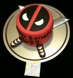 Deadpool Inspired Comic Book Character Cake