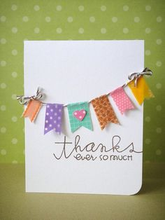 handmade thank you card with washi tape                                                                                                                                                                                 More