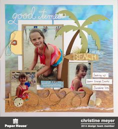 Good Times at the Beach - Scrapbook.com - Made with Paper House supplies.