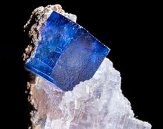 Perfect Blue Halite Cube with Sylvite - Fine Mineral Specimen from Carlsbad, NM