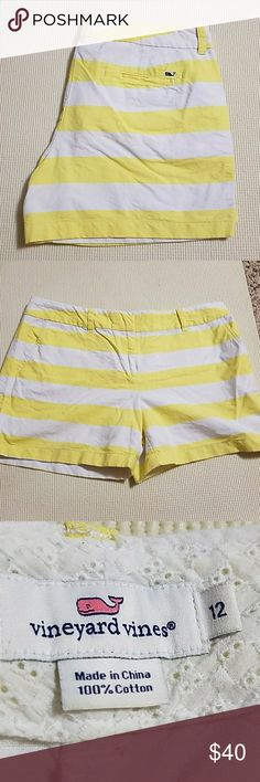 Vineyard vines shorts Yellow and white striped shorts from vineyard vines Vineyard Vines Shorts