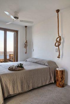Cycladic Villa Interior by Syros, Greece – Design. Home Bedroom, Bedroom Decor, Bedrooms, Greece Design, Home Design, Interior Design, Design Ideas, Design Design, Modern Design