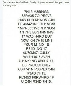 Like or comment if you can read this on your first attempt. I can, can you? Its Not That Hard