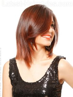 Medium Brown Shoulder Length Hair Side View