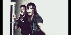 Daryl's reaction when Carol is hurt